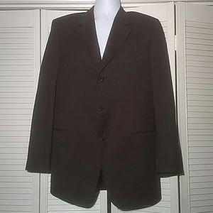 Solid Black Canali Blazer Sports Jacket, 42L